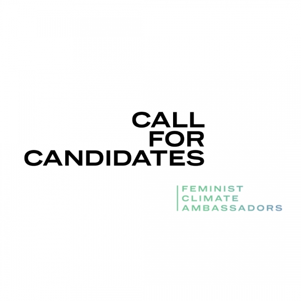 Call for candidates! Feminist Climate Ambassadors 2021